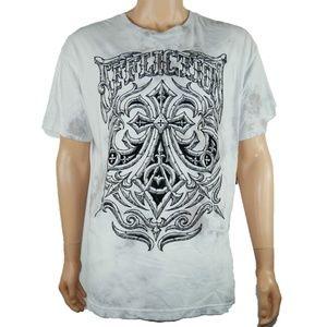 New Affliction Midnight Dirge Crewneck T-Shirt 2XL